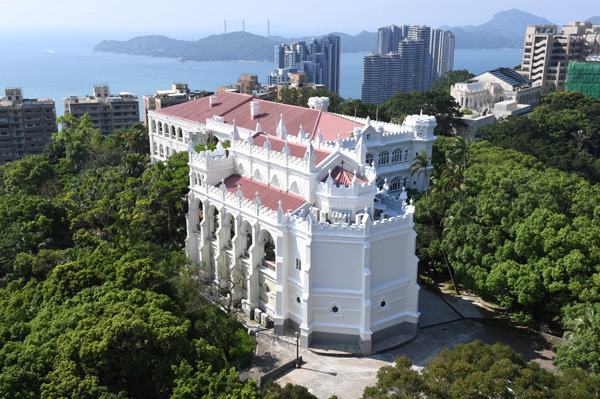 A view overlooking the University of Hong Kong's University Hall